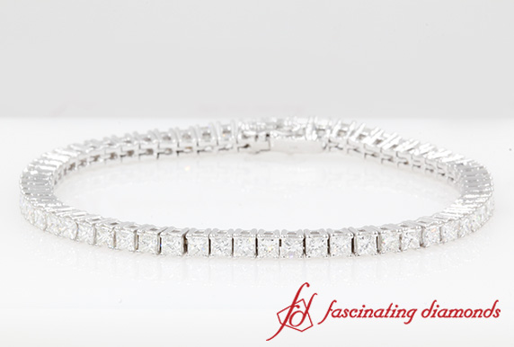 6 Karat Princess Cut Diamond Bracelet