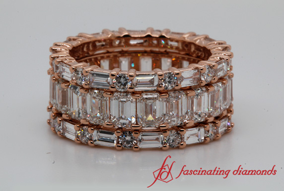 6.6 CT. Eternity Stackable Band