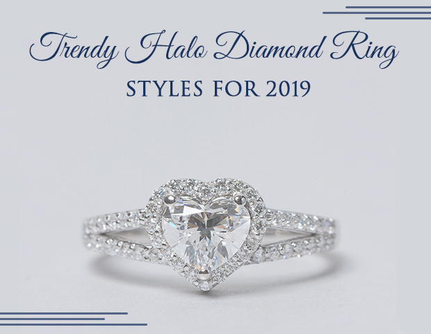 Trendy Halo Diamond Ring Styles For 2019