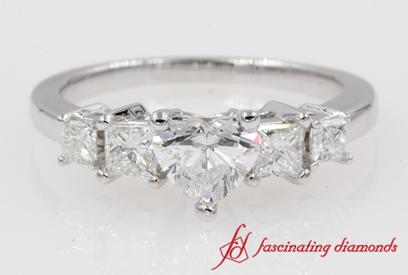 Basket 5 Stone Engagement Ring