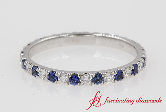 Eternity Sapphire Band In White Gold