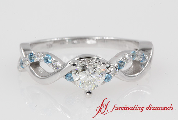 0.69 Ct. Heart Cut Infinity Engagement Ring