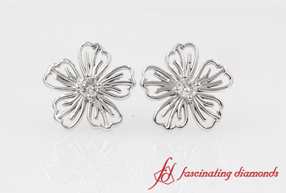 Nature Inspired Hibiscus Earring