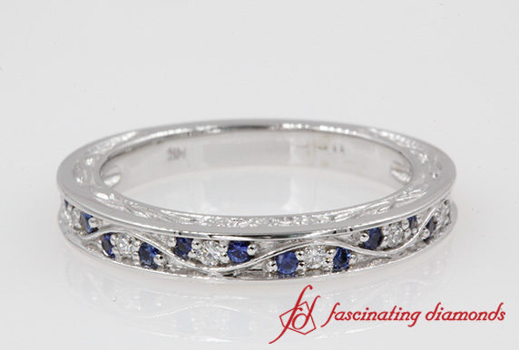 Filigree Pave Wedding Band