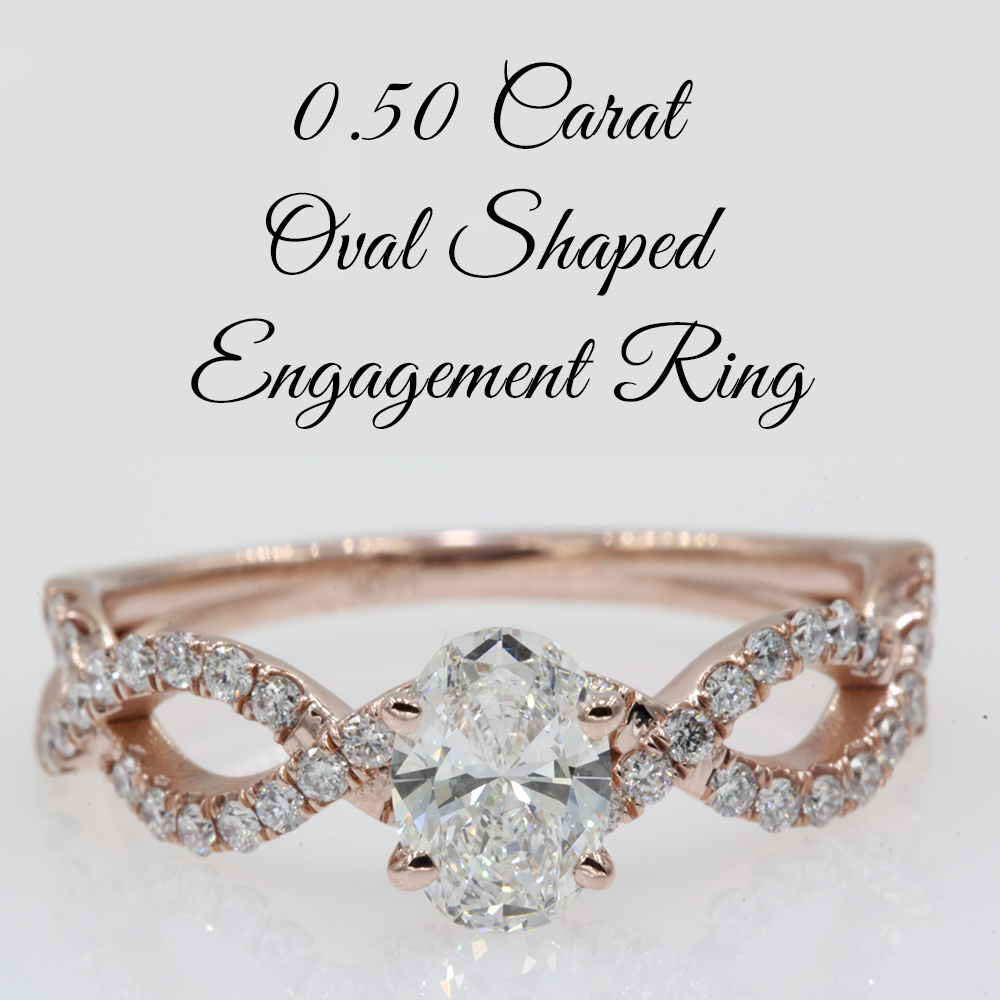 0.50 Carat Oval Shaped Engagement Ring