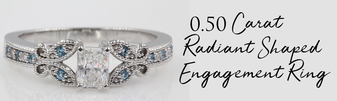 0.50 Carat Radiant Shaped Engagement Ring