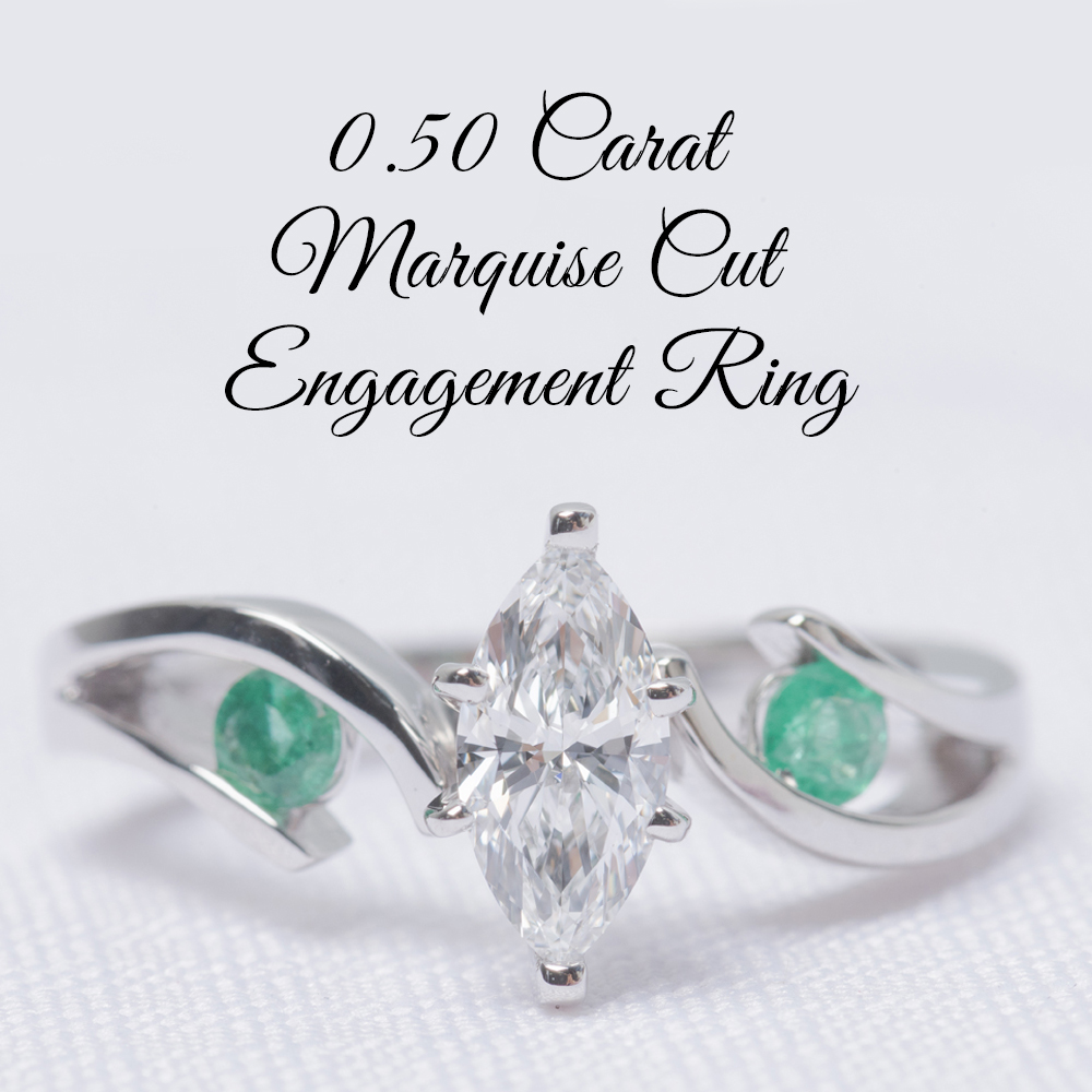 0.50 Carat Marquise Cut Engagement Ring