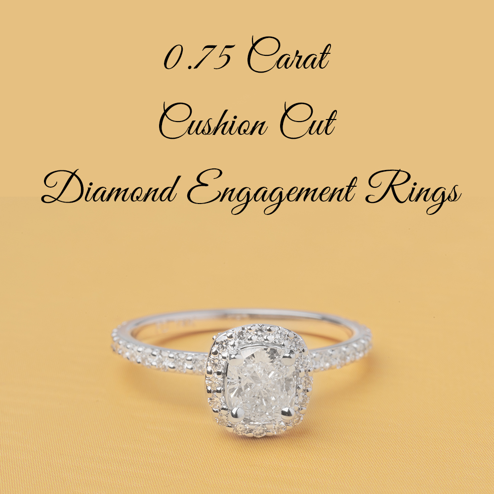 0.75 Carat Cushion Cut Diamond Engagement Rings_1000x1000