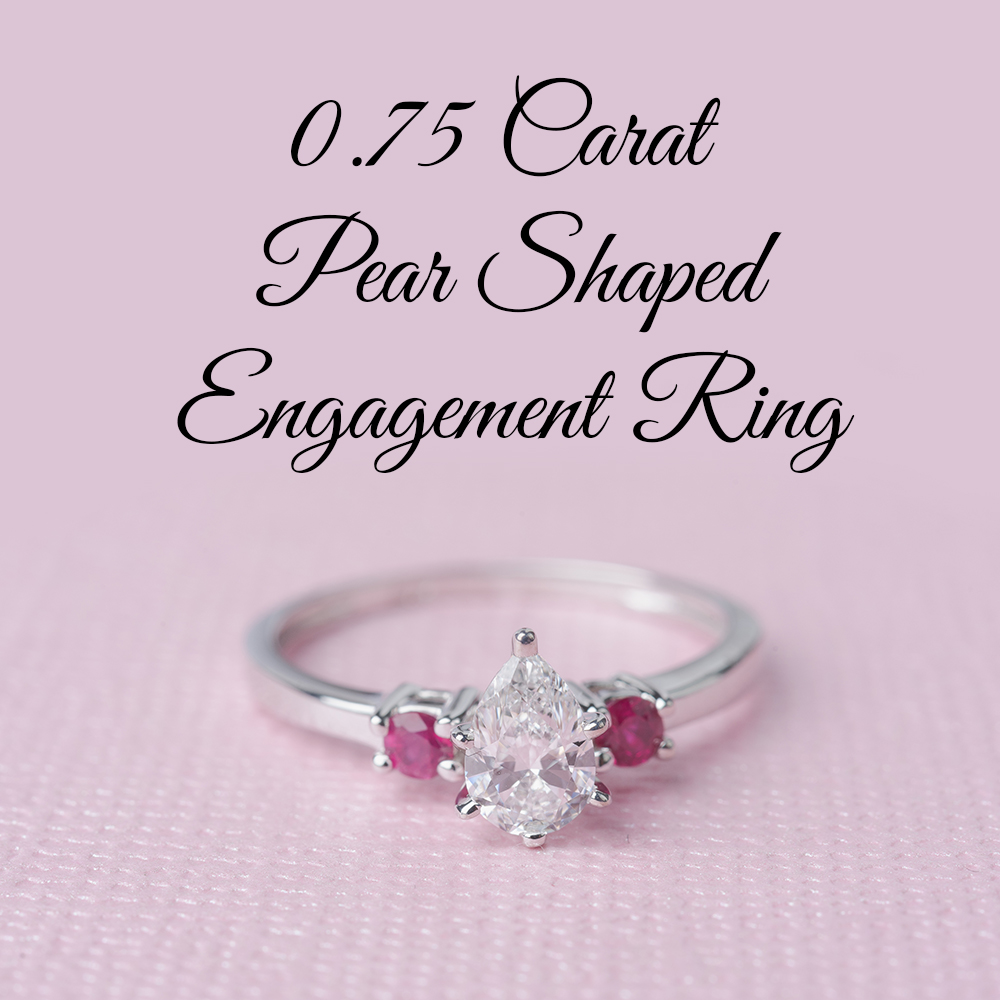 0.75 Carat Pear Shaped Engagement Ring