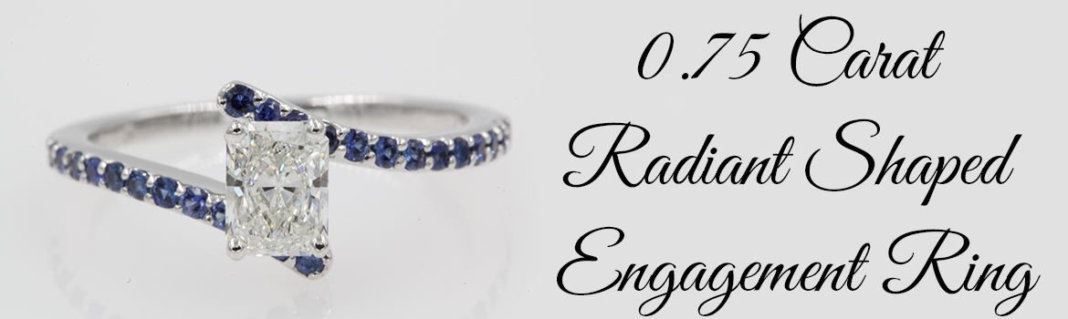 0.75 Carat Radiant Shaped Engagement Ring