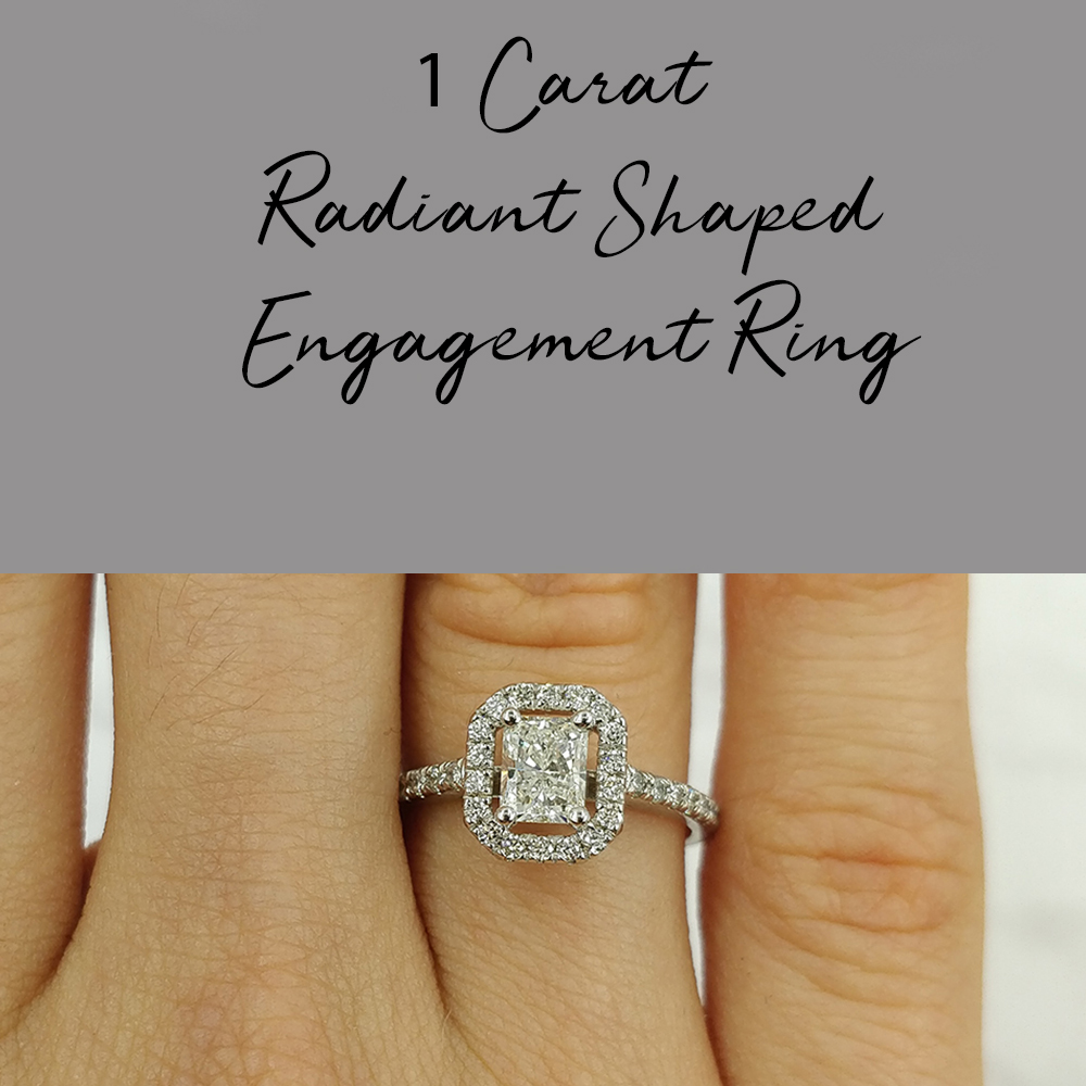 1 Carat Radiant Shaped Engagement Ring