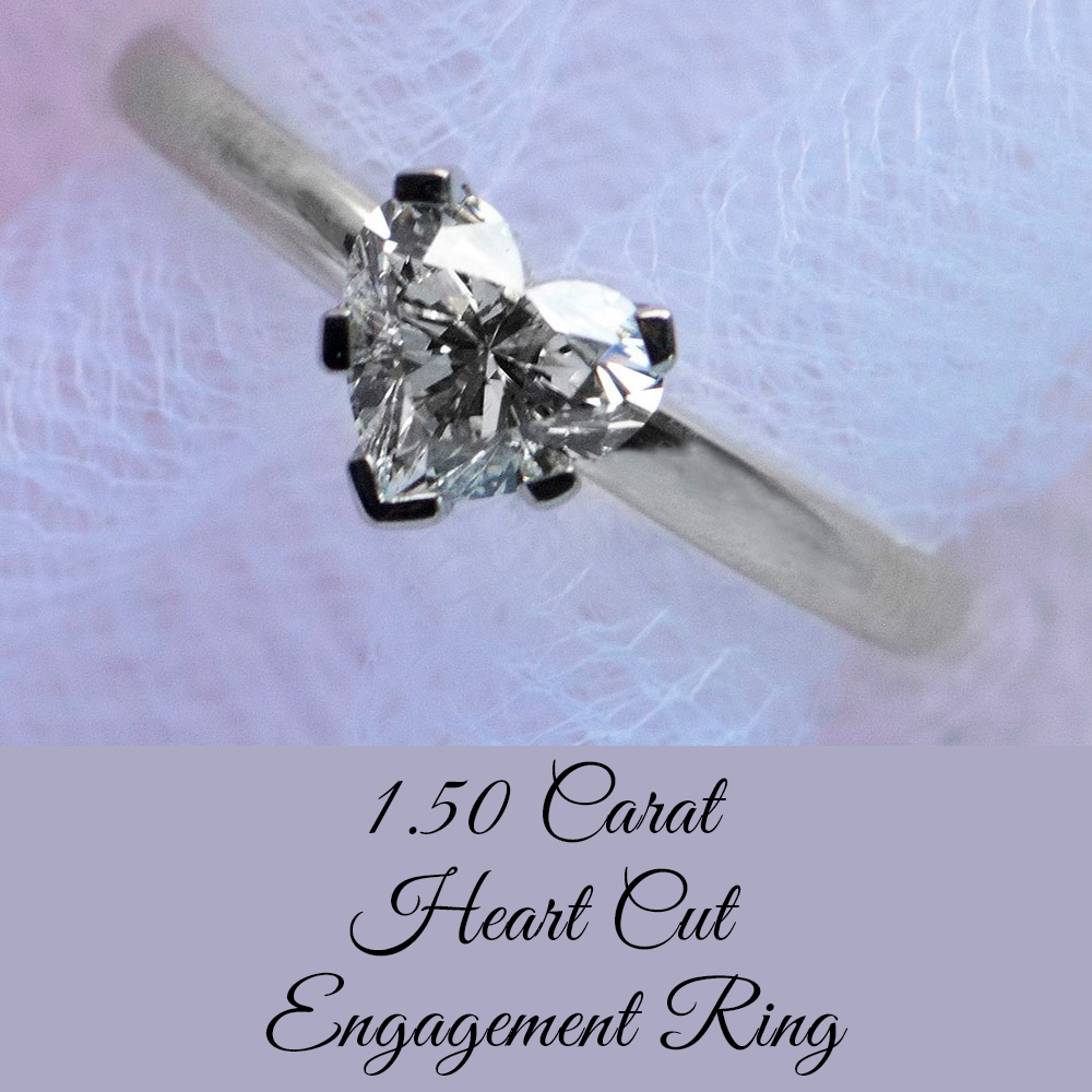 ctw with Diamonds in Sterling Silver Aquamarine Heart Ring 1.50 Carat