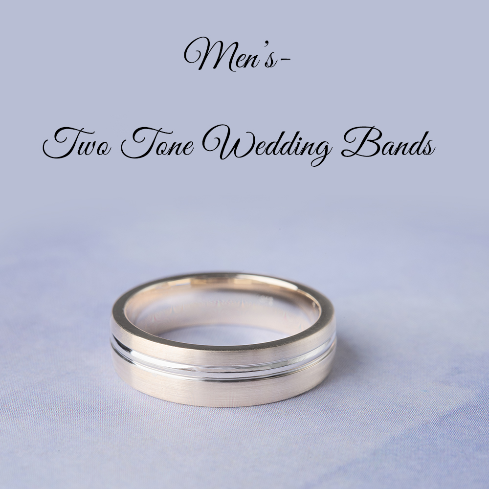 MENS Two Tone Wedding Bands