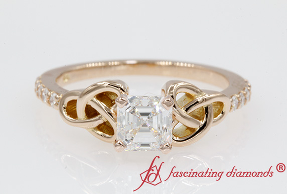 Celtic Asscher Cut Ring