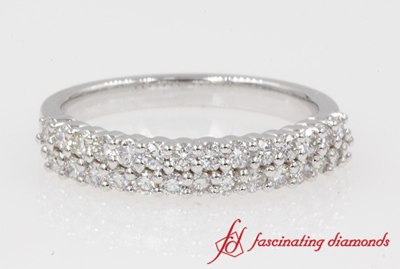 0.50 Carat 2 Row Diamond Band