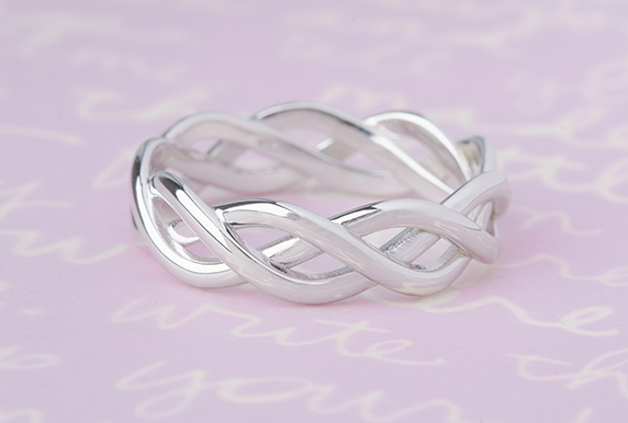 White Gold Infinity Wedding Band