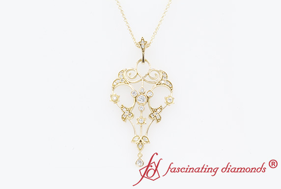 Filigree Diamond Pendant