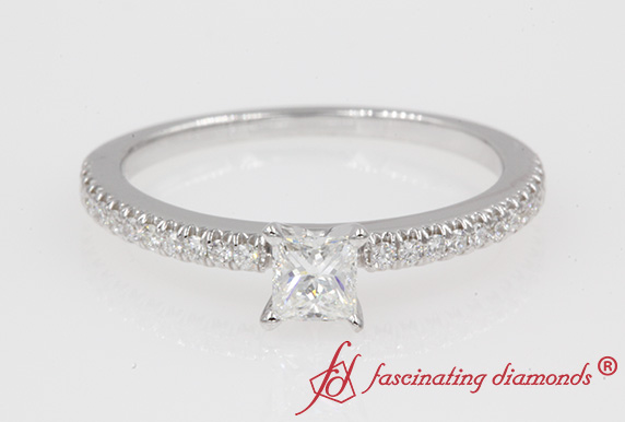 Petite Princess Cut Diamond Ring
