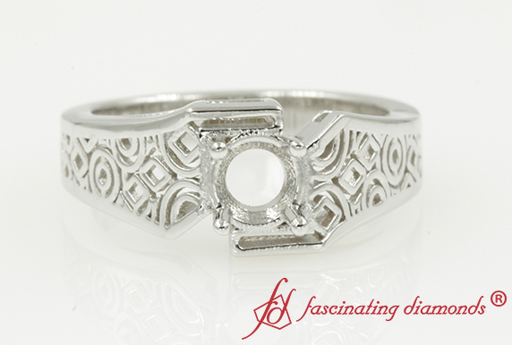 Intricate Solitaire Ring Setting