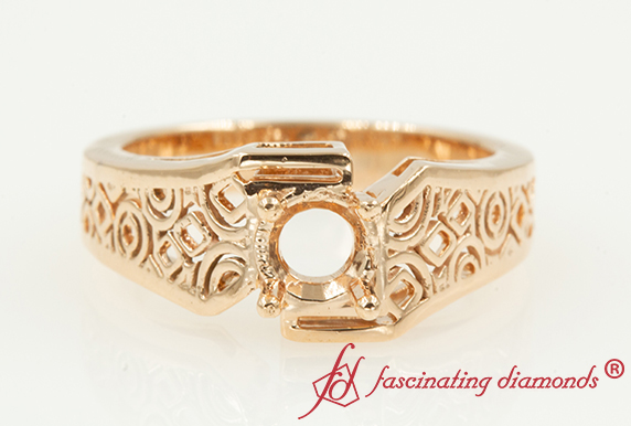Rose Gold Solitaire Ring Setting