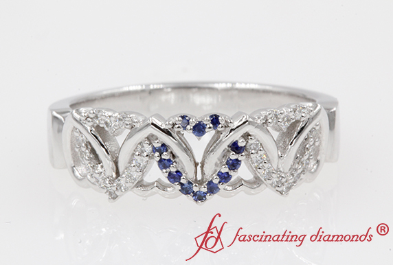 Wedding Ring With Blue Sapphire