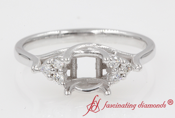 White Gold Customized Ring Mounting