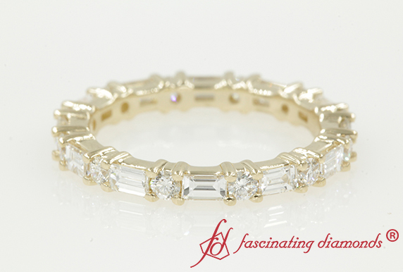 Yellow Gold Diamond Eternity Band