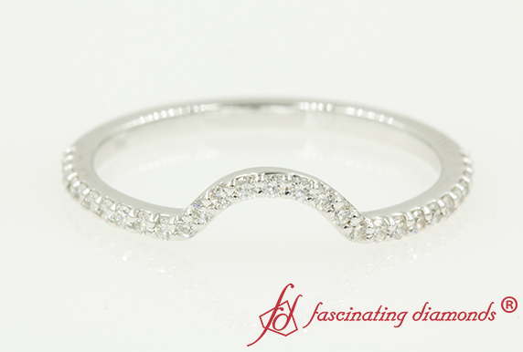Delicate Diamond Women Curved Band