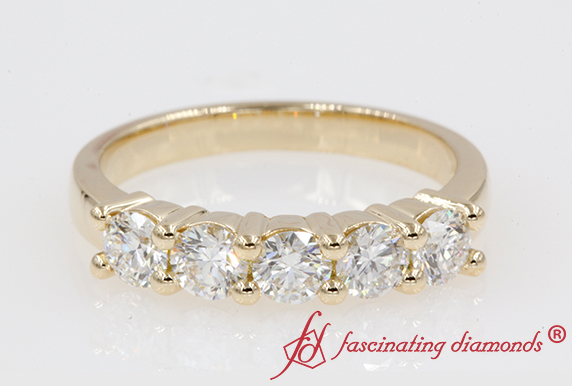 1.10 Carat Diamond 5 Stone Band