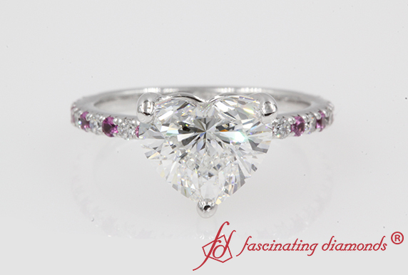 2.20 Carat Heart Diamond Petite Ring