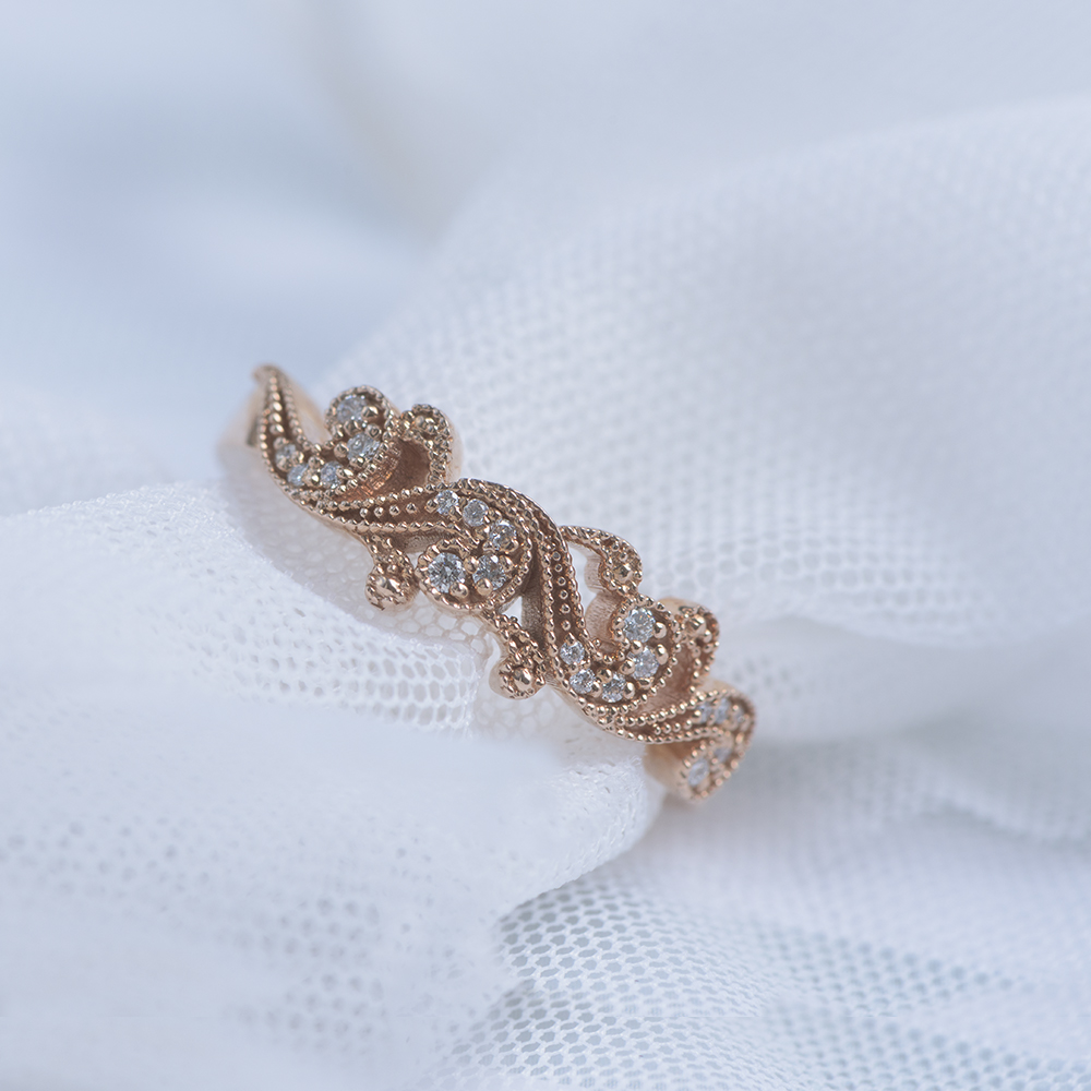 Filigree Wedding Anniversary Band