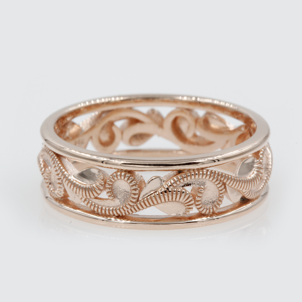 Mens Filigree Design Wedding Band