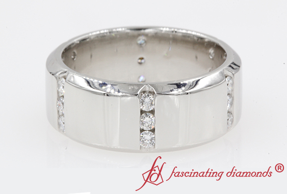 Platinum Mens Diamond Band