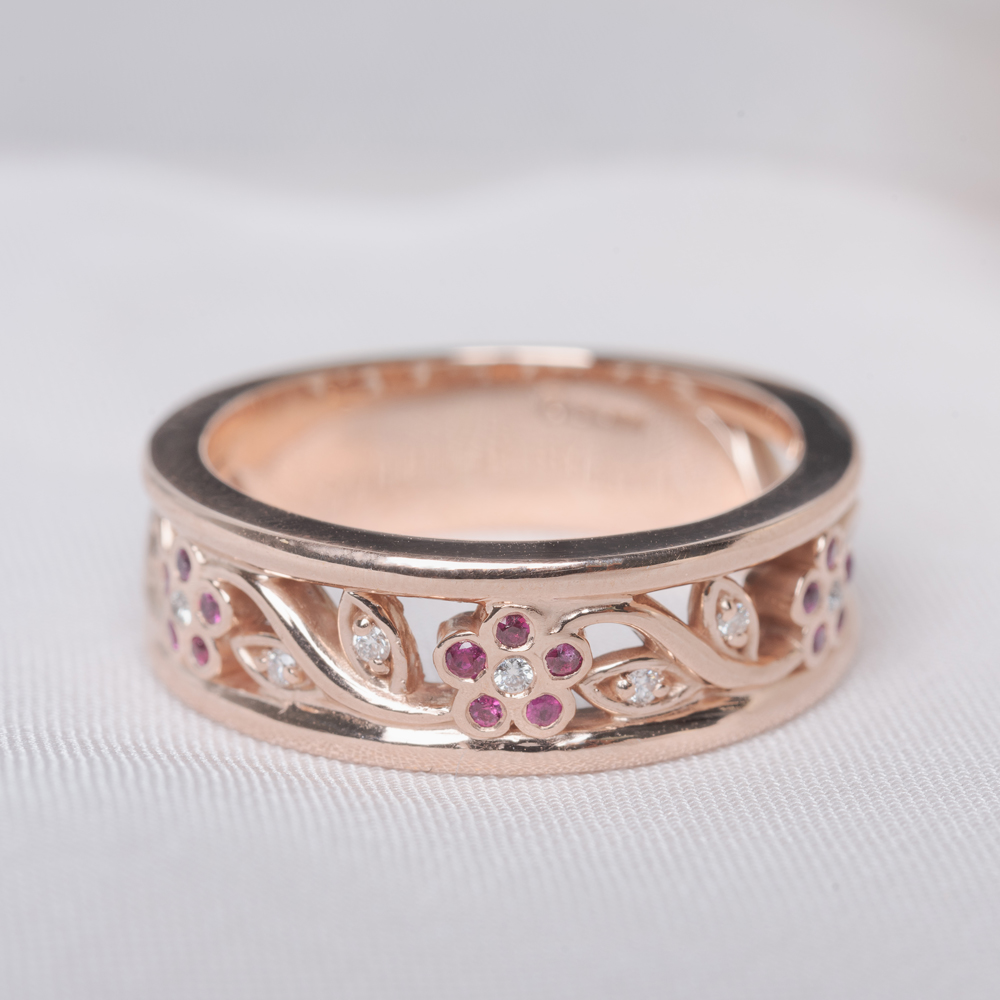 Nature Inspired Filigree Band For Women