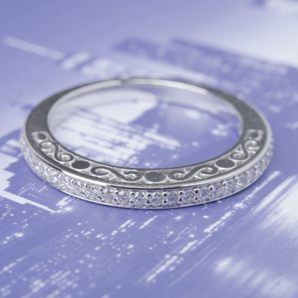 Delicate Filigree Diamond Wedding Band