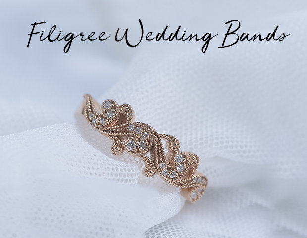 filigree wedding bands.