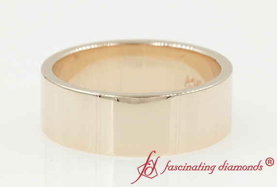7MM Plain Flat Wedding Band