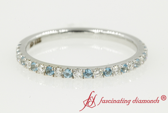 Delicate Women Band With Topaz