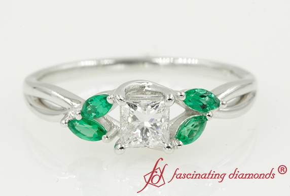 Twisted Petal Diamond Ring