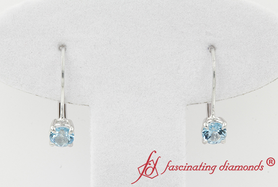 Blue Topaz Small Hoop Earring