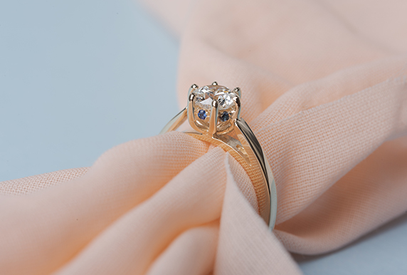 6 Prong Under Halo Ring