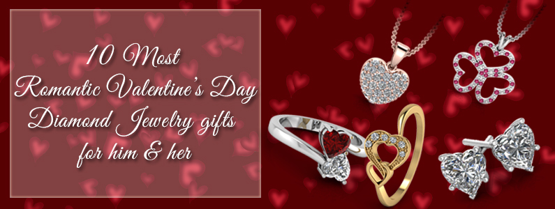 valentine day - diamond jewelry gifts for him and her