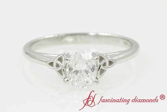 Celtic Oval Shaped Solitaire Engagement Ring