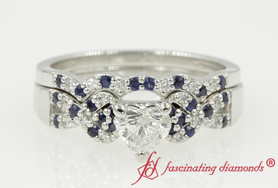 Intertwined Bridal Set With Sapphire