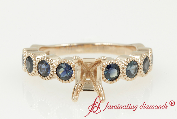 Customized Bezel Sapphire Ring Setting