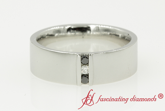 3 Stone Wedding Band For Men