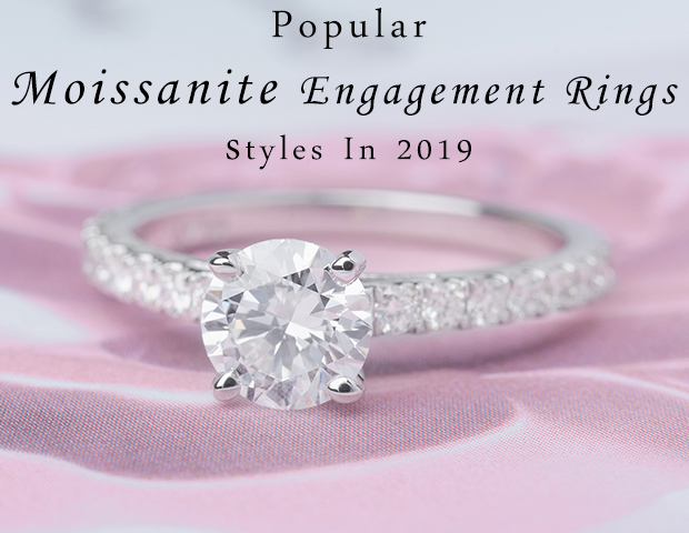 Popular Moissanite Engagement Ring