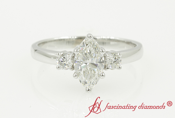 1.13 Ct. Marquise Diamond Wedding Ring