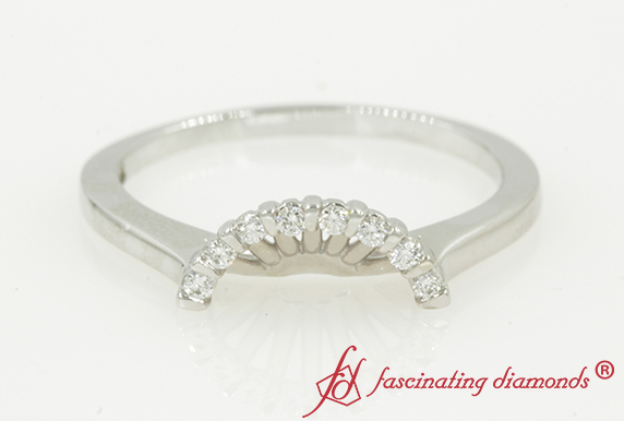 Customized Curved Floating Diamond Band