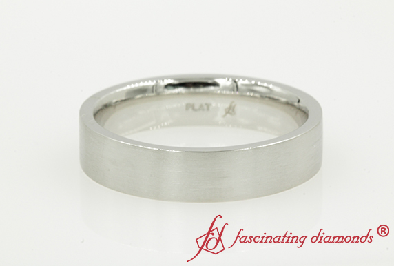 5MM Mens Plain Wedding Band